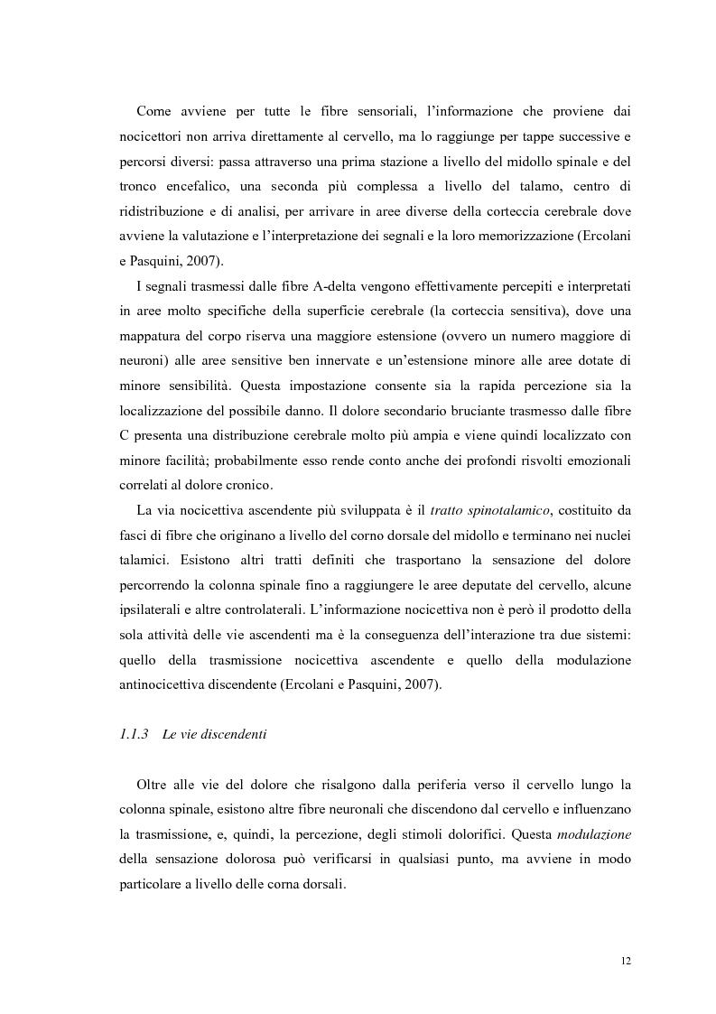Anteprima della tesi: Aspetti psicologici e relazionali del dolore cronico, Pagina 6