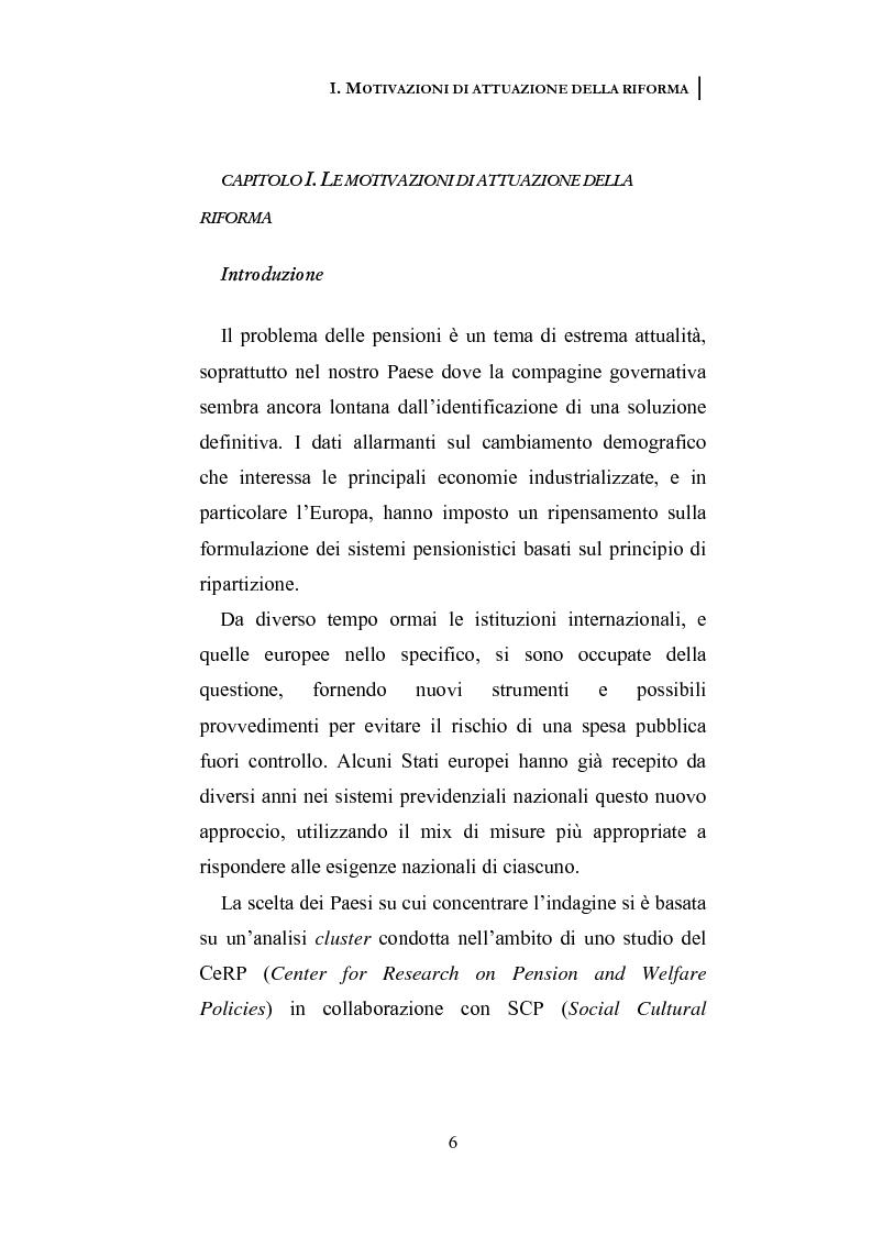 Anteprima della tesi: La riforma dei sistemi pensionistici europei, Pagina 1