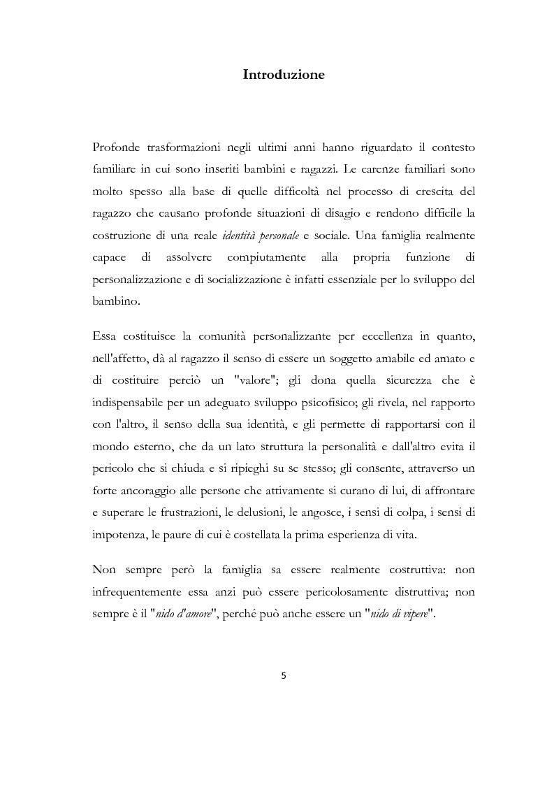 Anteprima della tesi: La formazione delle famiglie affidatarie come nuovo progetto pedagogico di accoglienza, Pagina 1