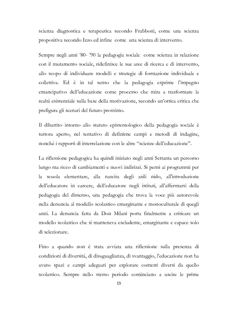 Anteprima della tesi: La formazione delle famiglie affidatarie come nuovo progetto pedagogico di accoglienza, Pagina 11
