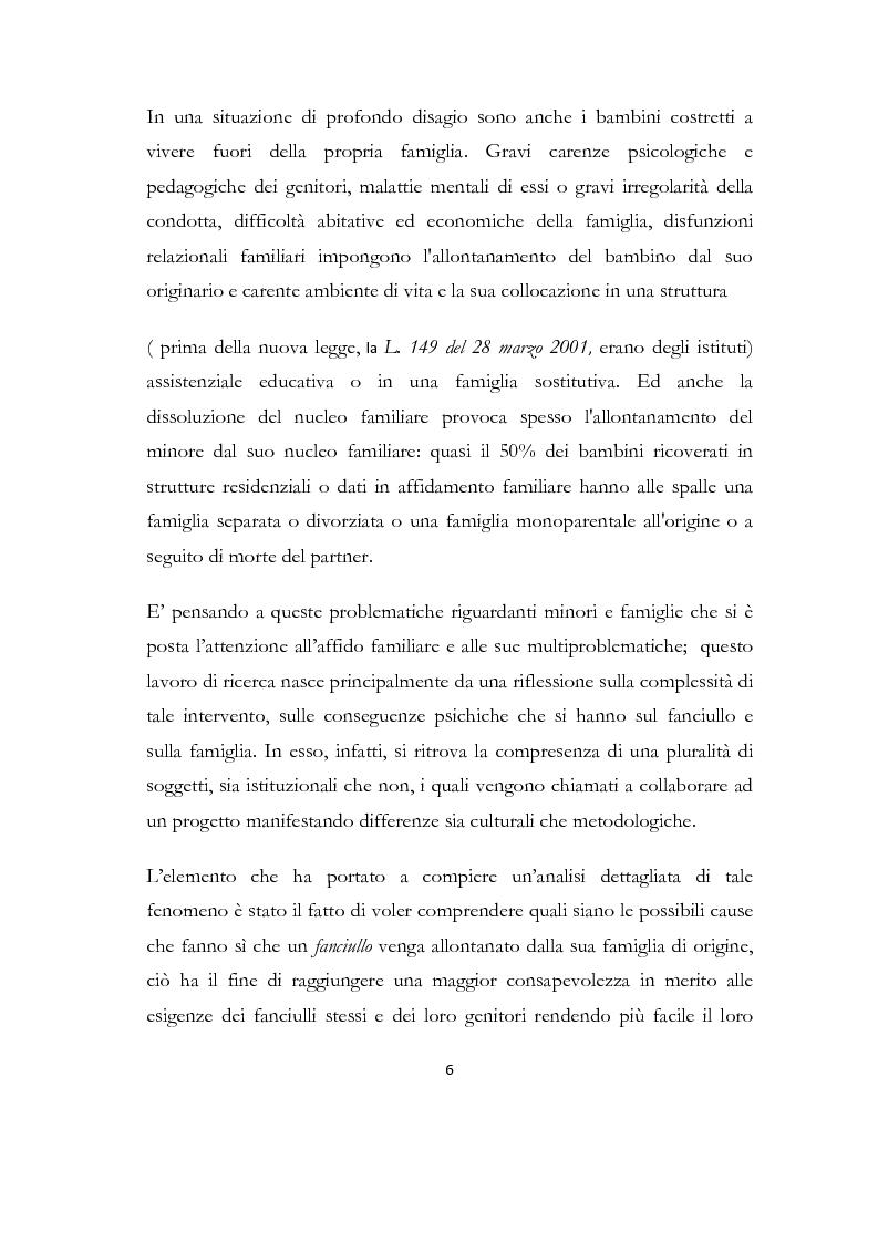 Anteprima della tesi: La formazione delle famiglie affidatarie come nuovo progetto pedagogico di accoglienza, Pagina 2
