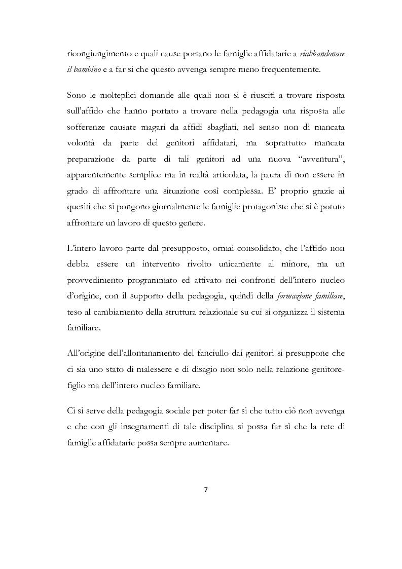 Anteprima della tesi: La formazione delle famiglie affidatarie come nuovo progetto pedagogico di accoglienza, Pagina 3
