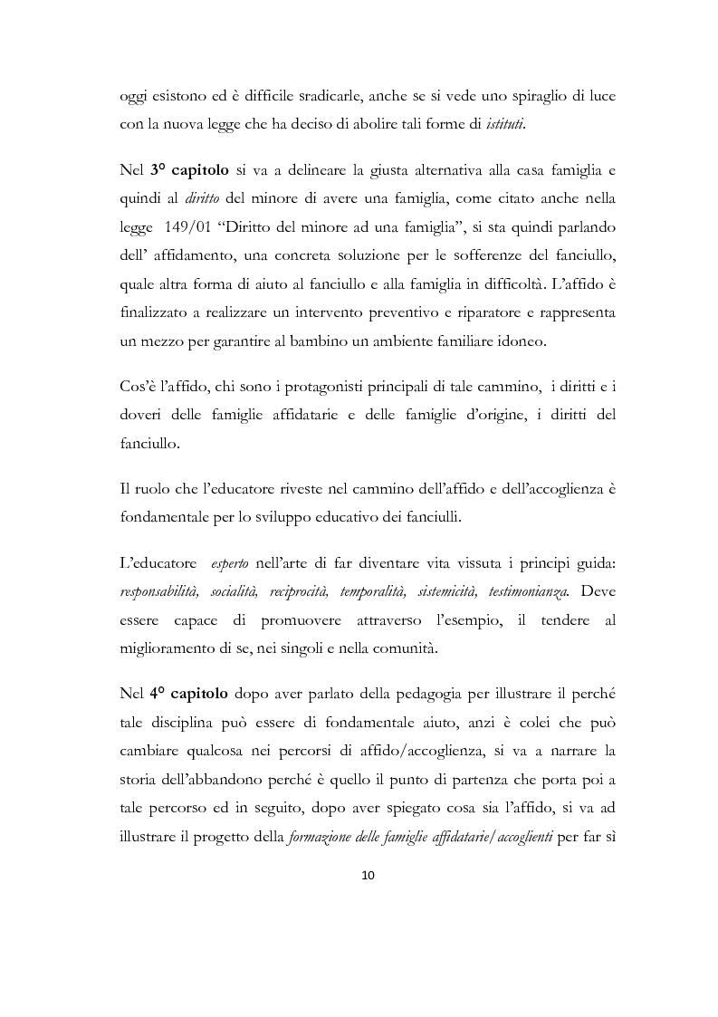 Anteprima della tesi: La formazione delle famiglie affidatarie come nuovo progetto pedagogico di accoglienza, Pagina 6
