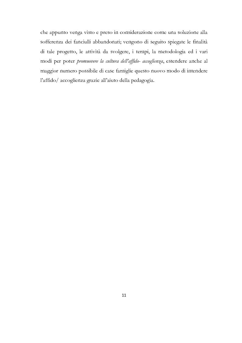 Anteprima della tesi: La formazione delle famiglie affidatarie come nuovo progetto pedagogico di accoglienza, Pagina 7