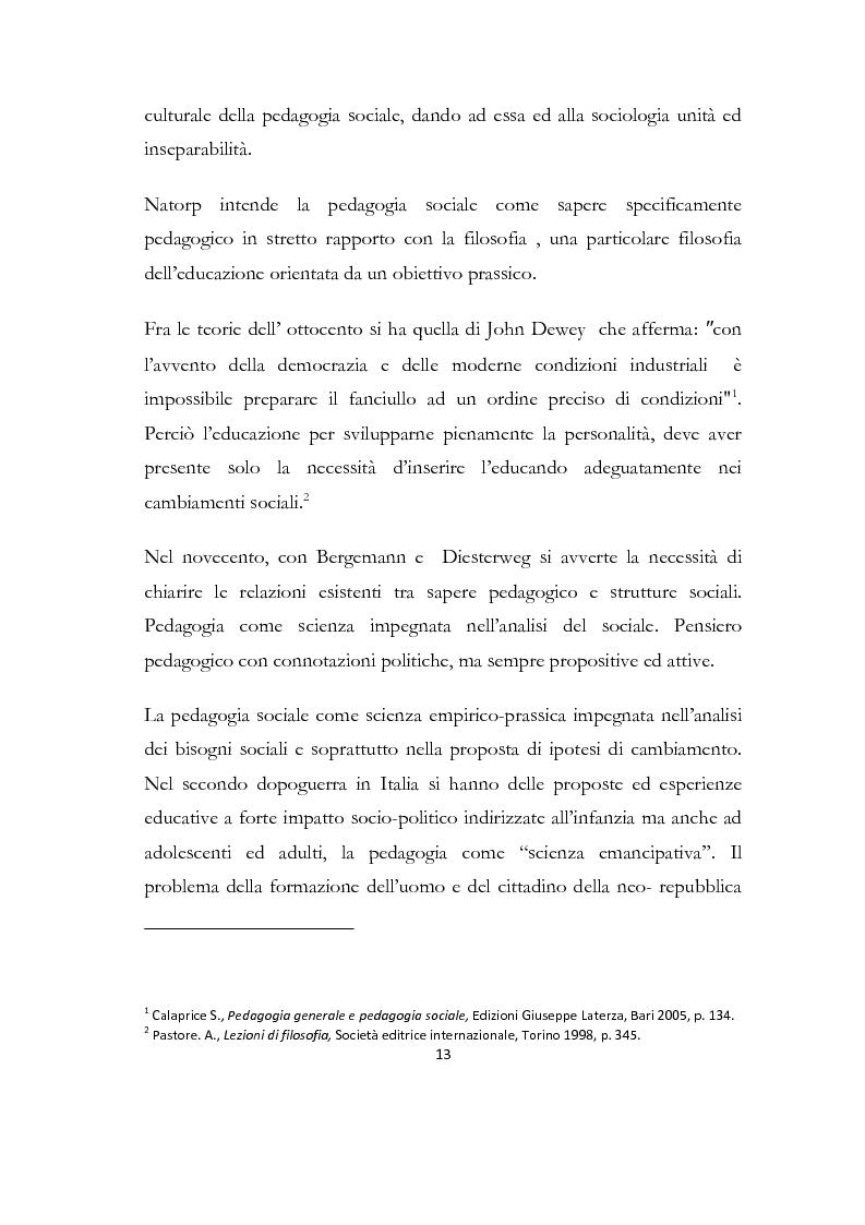 Anteprima della tesi: La formazione delle famiglie affidatarie come nuovo progetto pedagogico di accoglienza, Pagina 9