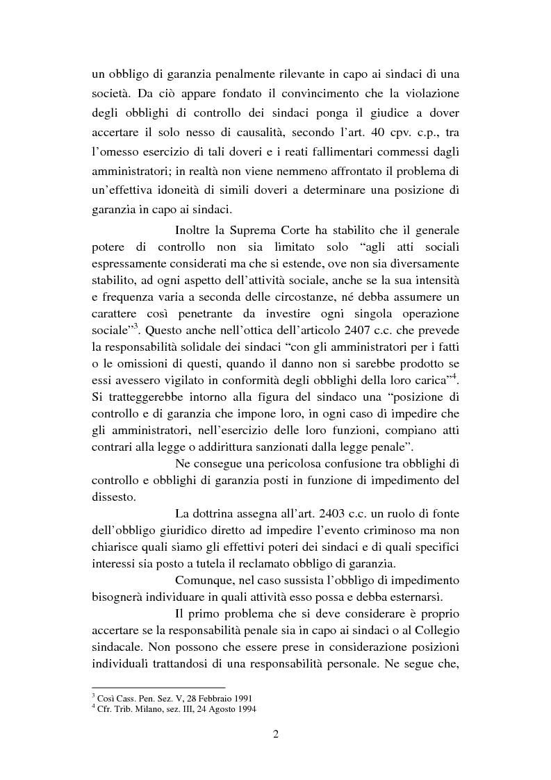 Anteprima della tesi: I criteri di imputazione soggettiva nel diritto penale fallimentare, Pagina 2
