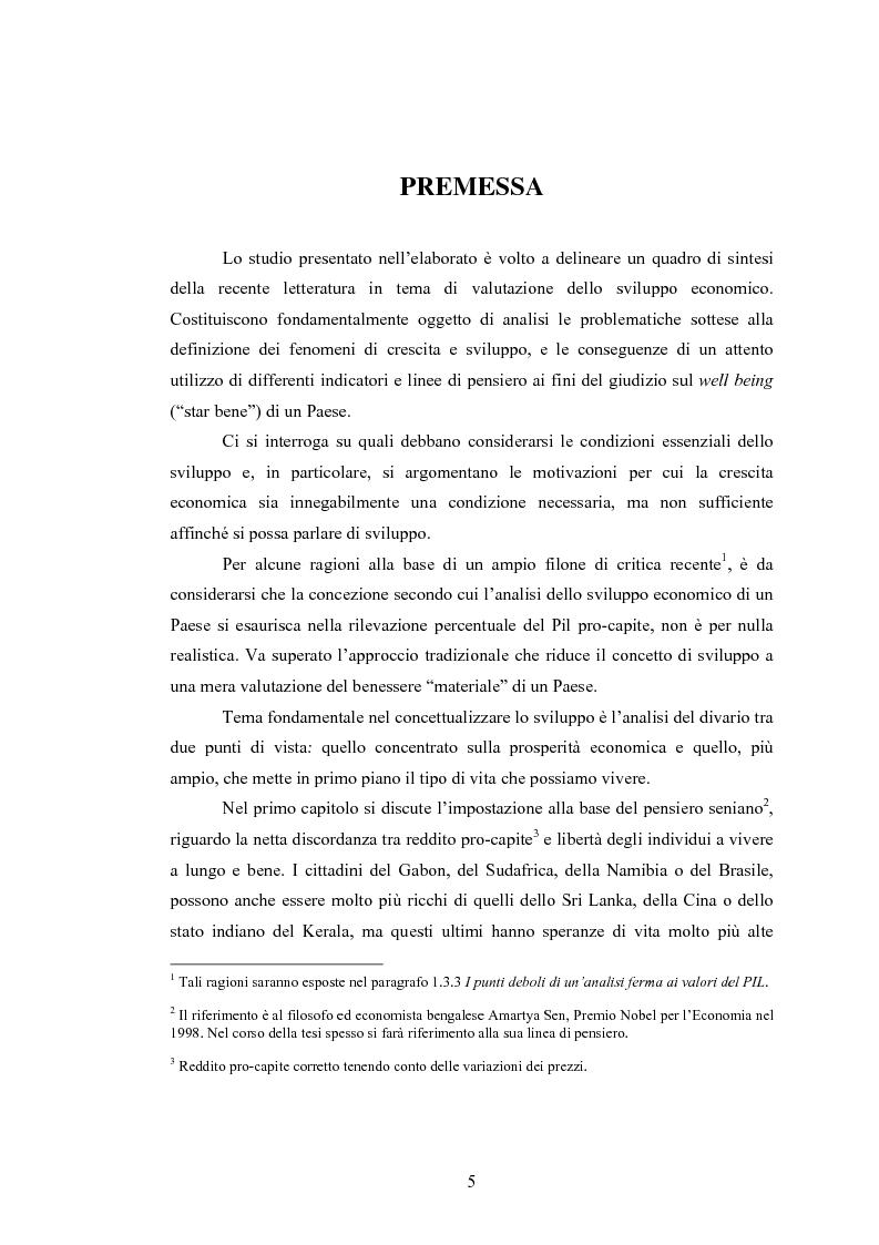 Anteprima della tesi: Analisi dei criteri di misurazione dello sviluppo come libertà, Pagina 1
