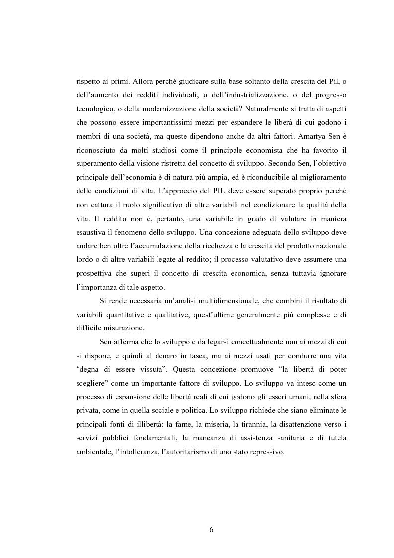 Anteprima della tesi: Analisi dei criteri di misurazione dello sviluppo come libertà, Pagina 2
