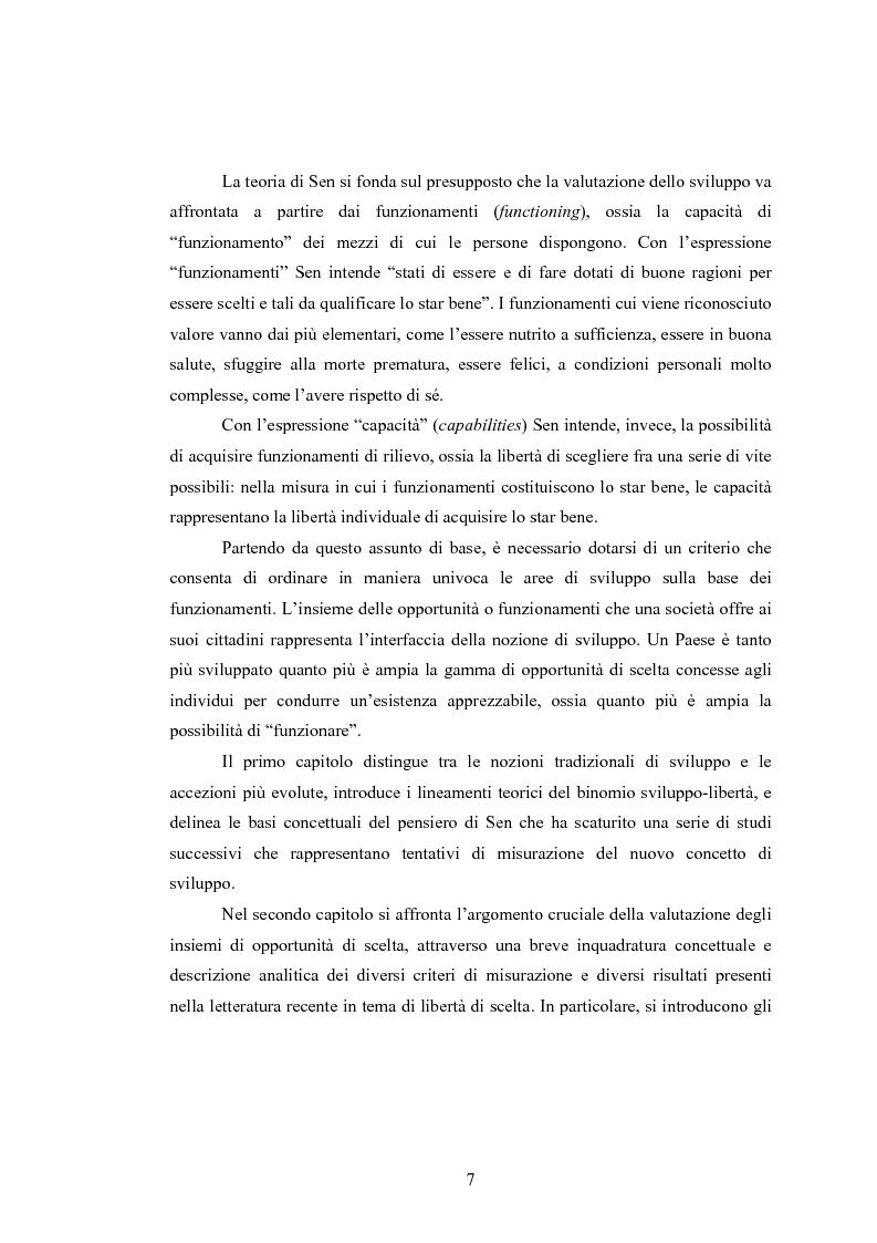 Anteprima della tesi: Analisi dei criteri di misurazione dello sviluppo come libertà, Pagina 3