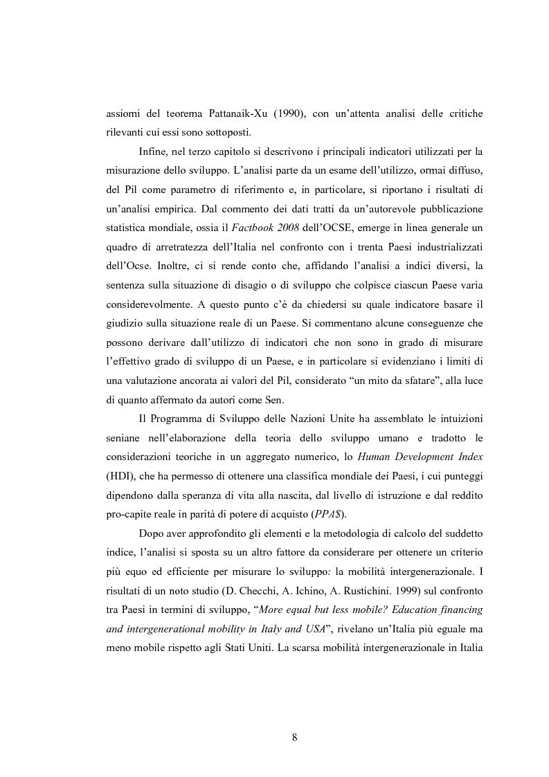 Anteprima della tesi: Analisi dei criteri di misurazione dello sviluppo come libertà, Pagina 4