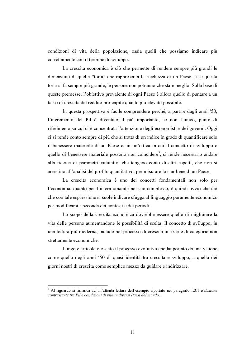 Anteprima della tesi: Analisi dei criteri di misurazione dello sviluppo come libertà, Pagina 7
