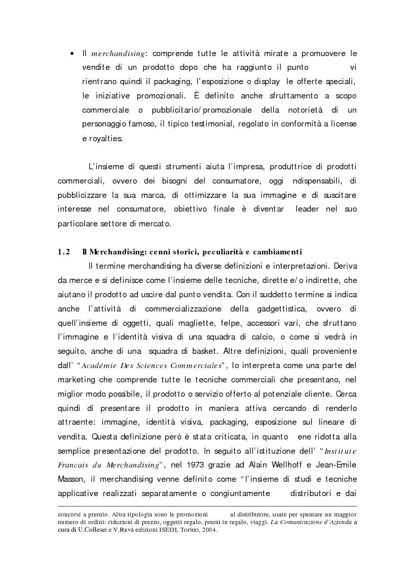 Anteprima della tesi: Sport Merchandising: il caso JuveCaserta, Pagina 10