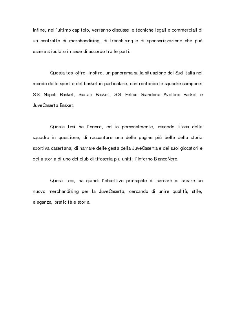 Anteprima della tesi: Sport Merchandising: il caso JuveCaserta, Pagina 6