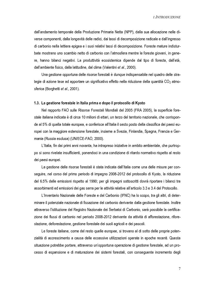 Anteprima della tesi: Metodi per una stima del bilancio del carbonio delle foreste a scala operativa: il caso della Basilicata, Pagina 3