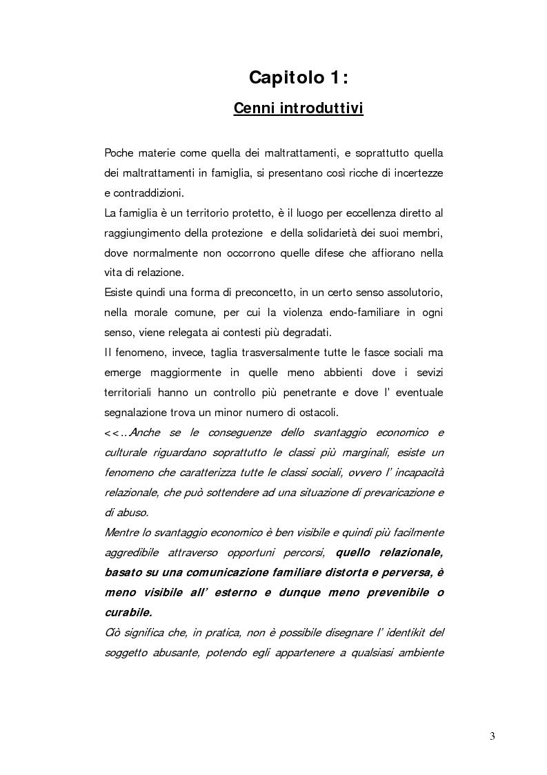 Anteprima della tesi: Stalking e violenza endo-familiare, Pagina 1