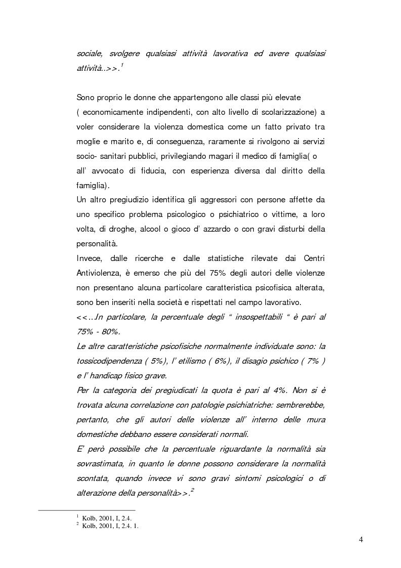 Anteprima della tesi: Stalking e violenza endo-familiare, Pagina 2