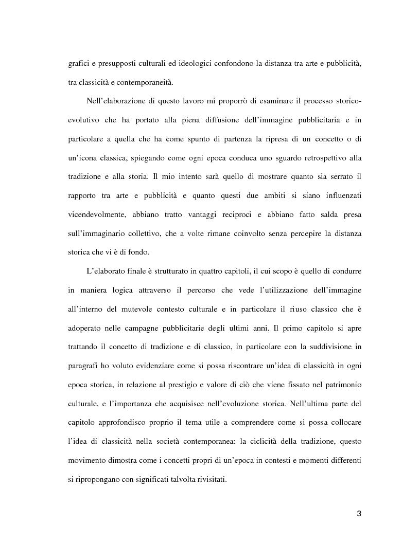 Anteprima della tesi: La pubblicità come il futuro del classico, Pagina 2