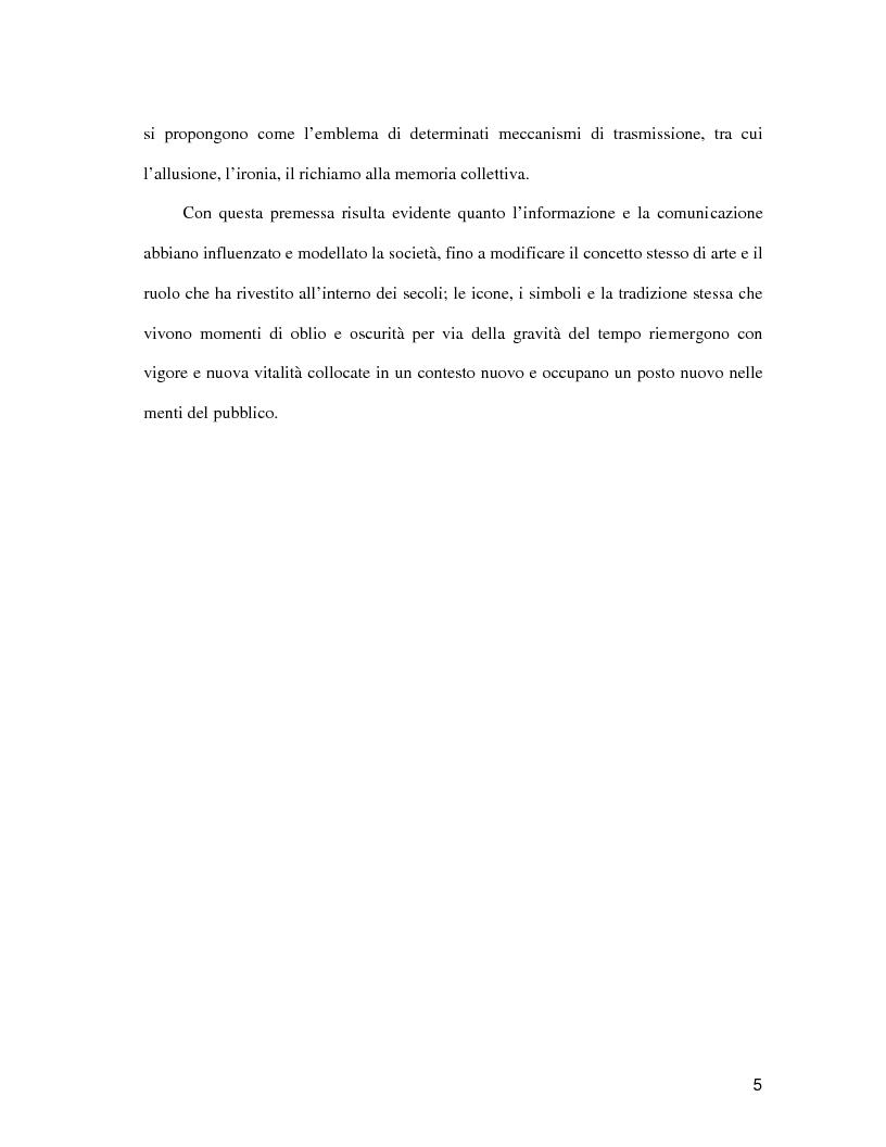 Anteprima della tesi: La pubblicità come il futuro del classico, Pagina 4