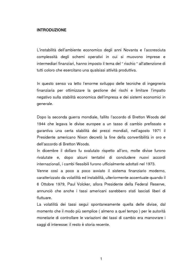 Mercati futures e copertura del rischio finanziario mediante contratti derivati - Tesi di Laurea