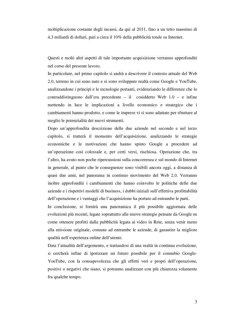 Anteprima della tesi: Convergenza e nuovi equilibri nel Web 2.0: il caso Google-YouTube, Pagina 3