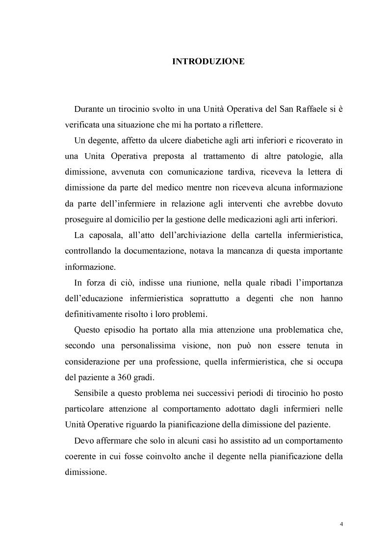 Anteprima della tesi: Ruolo dell'infermiere nella dimissione ospedaliera: un'analisi della letteratura, Pagina 1