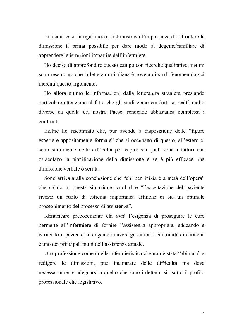 Anteprima della tesi: Ruolo dell'infermiere nella dimissione ospedaliera: un'analisi della letteratura, Pagina 2