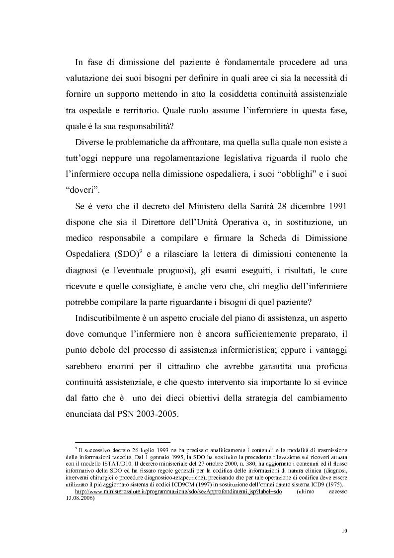 Anteprima della tesi: Ruolo dell'infermiere nella dimissione ospedaliera: un'analisi della letteratura, Pagina 7