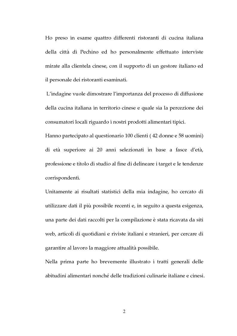 Anteprima della tesi: Percezione, target e strategie della ristorazione italiana a Pechino, Pagina 2