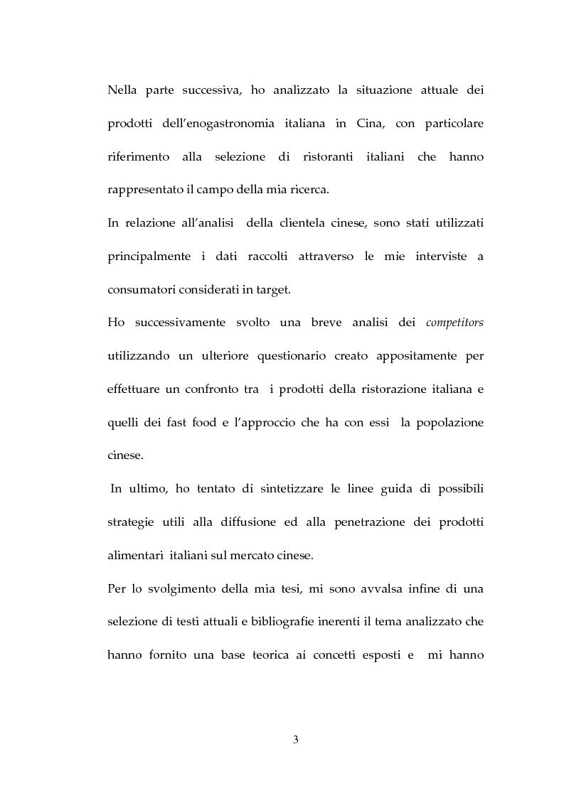 Anteprima della tesi: Percezione, target e strategie della ristorazione italiana a Pechino, Pagina 3