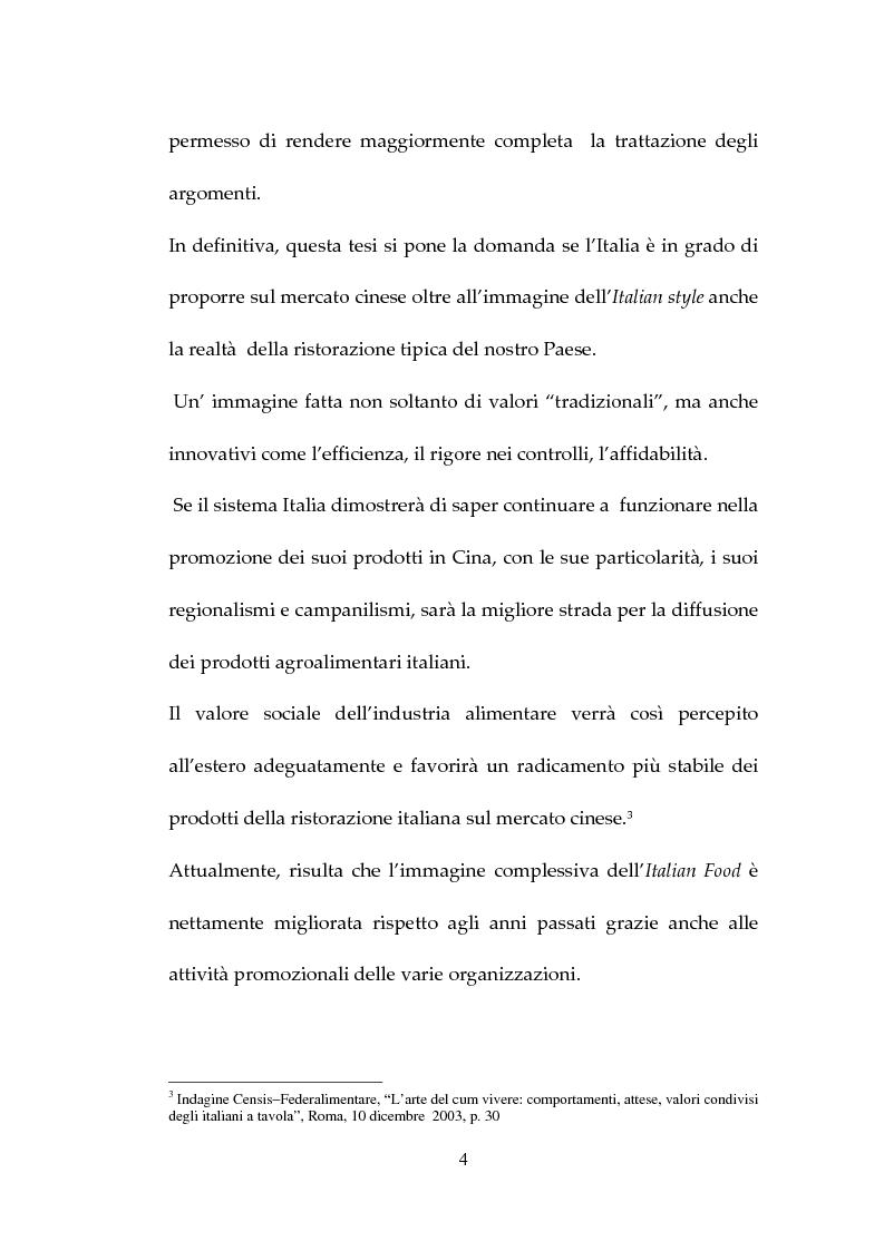 Anteprima della tesi: Percezione, target e strategie della ristorazione italiana a Pechino, Pagina 4
