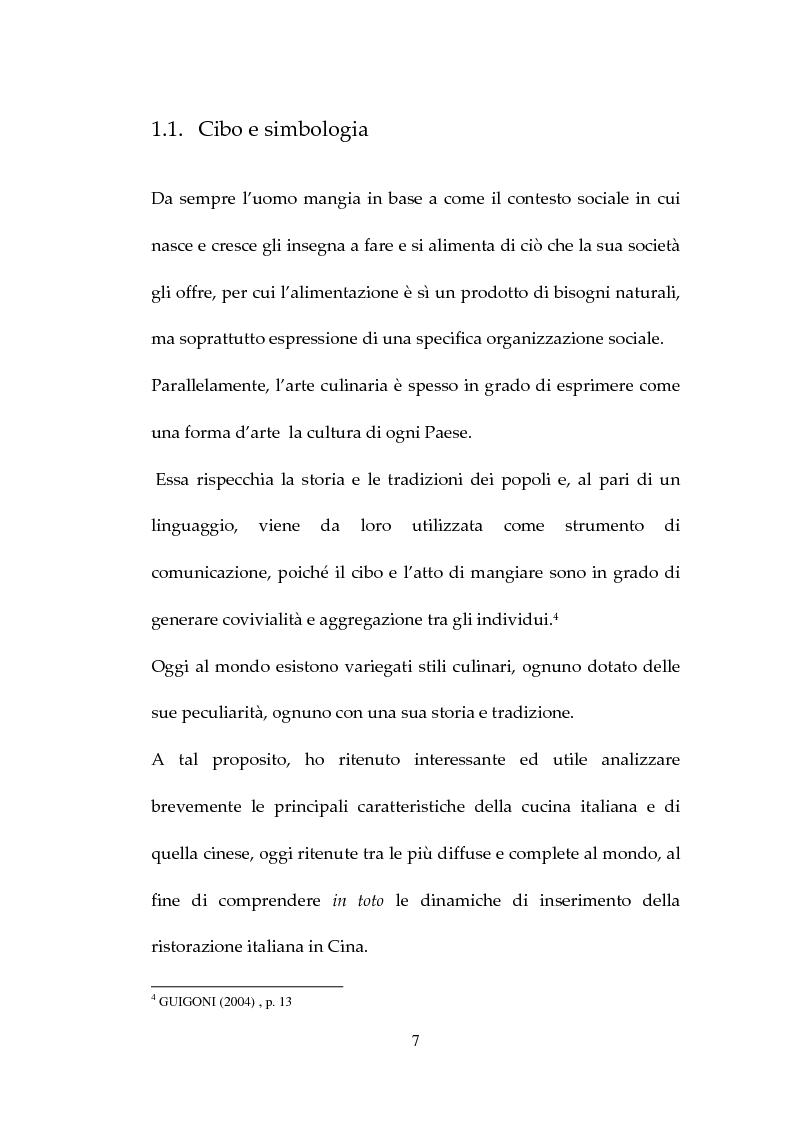 Anteprima della tesi: Percezione, target e strategie della ristorazione italiana a Pechino, Pagina 7