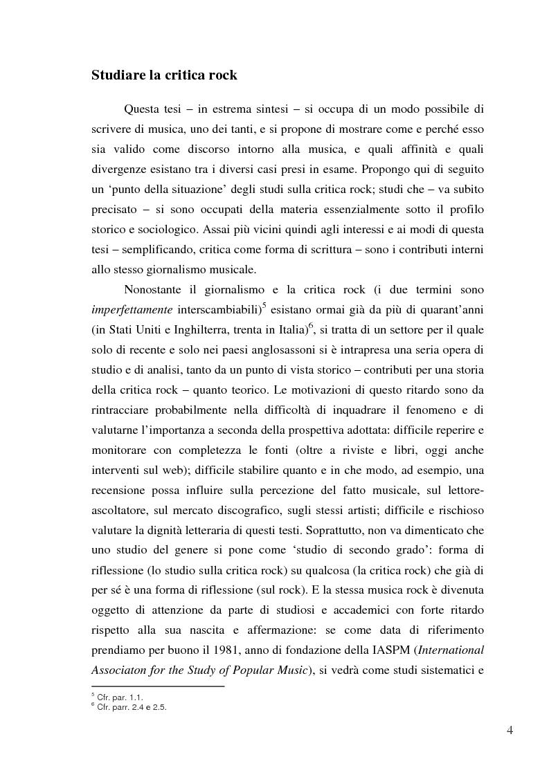 Anteprima della tesi: «Paesaggi immaginari»: critica ufonica e discografia potenziale - Recensioni e dischi (im)possibili nel giornalismo rock, Pagina 4