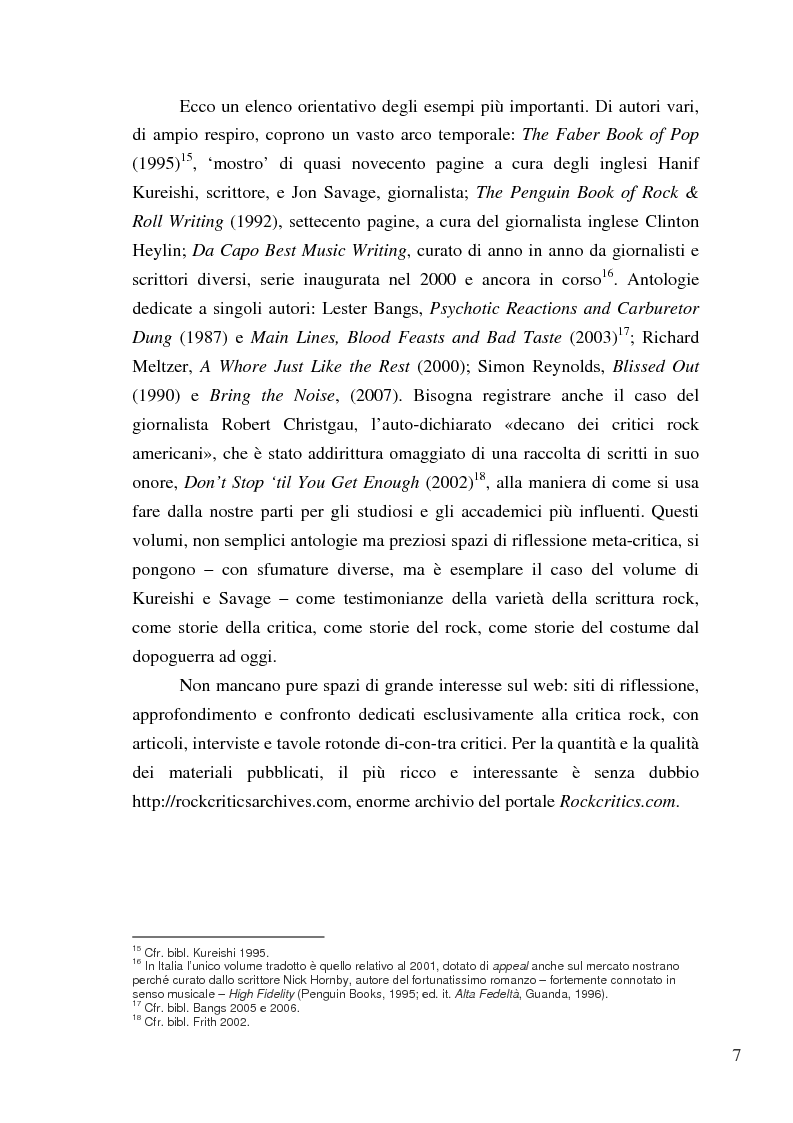 Anteprima della tesi: «Paesaggi immaginari»: critica ufonica e discografia potenziale - Recensioni e dischi (im)possibili nel giornalismo rock, Pagina 7