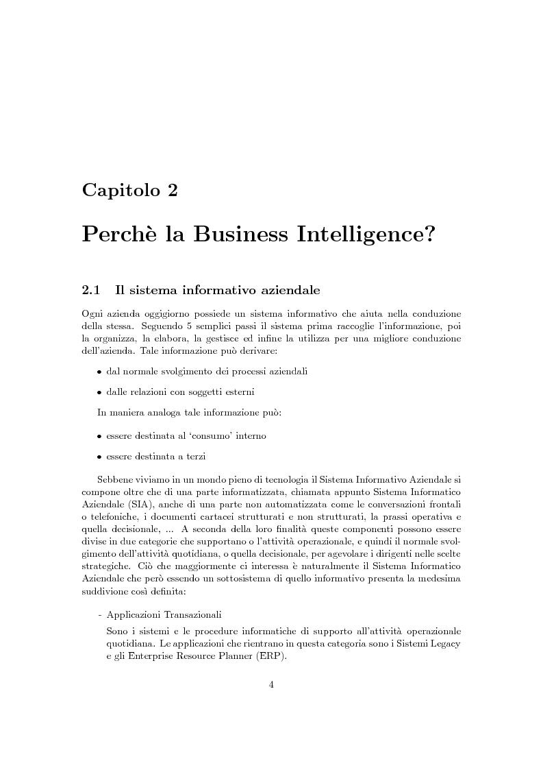 Anteprima della tesi: Problematiche della Business Intelligence, Pagina 3