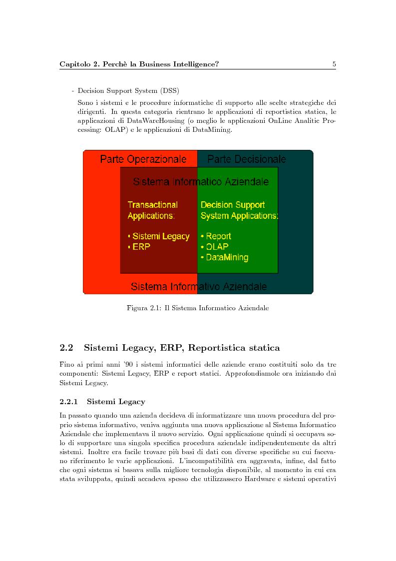 Anteprima della tesi: Problematiche della Business Intelligence, Pagina 4