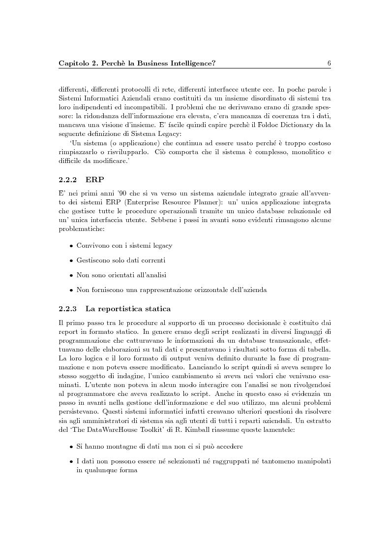 Anteprima della tesi: Problematiche della Business Intelligence, Pagina 5