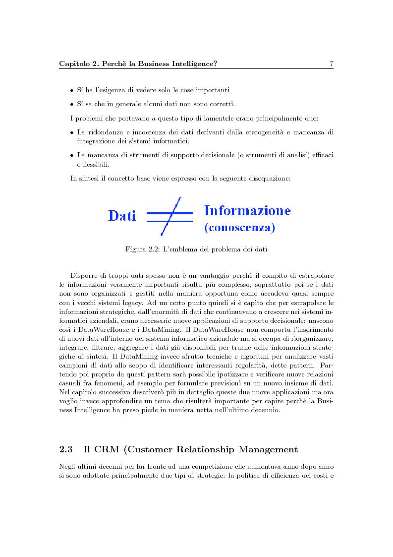 Anteprima della tesi: Problematiche della Business Intelligence, Pagina 6