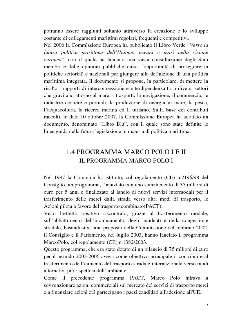 Anteprima della tesi: Studio di fattibilità di un'autostrada del mare in Sardegna, Pagina 10