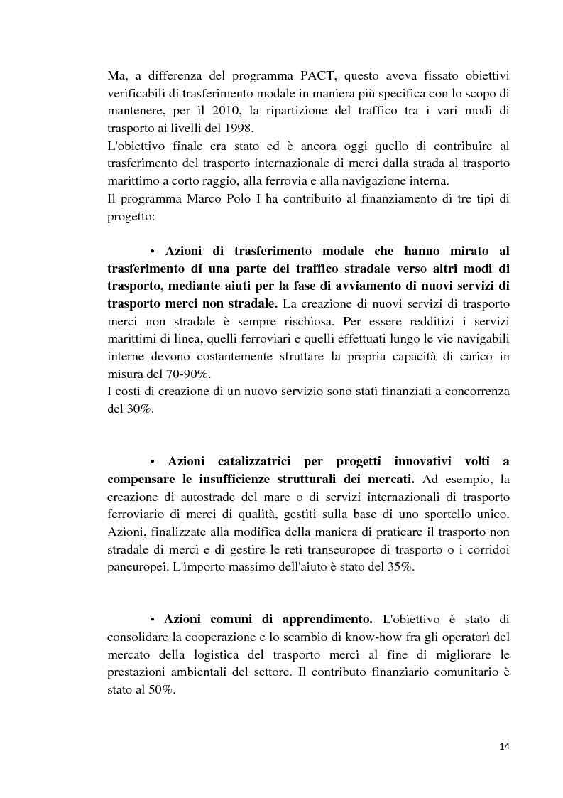Anteprima della tesi: Studio di fattibilità di un'autostrada del mare in Sardegna, Pagina 11