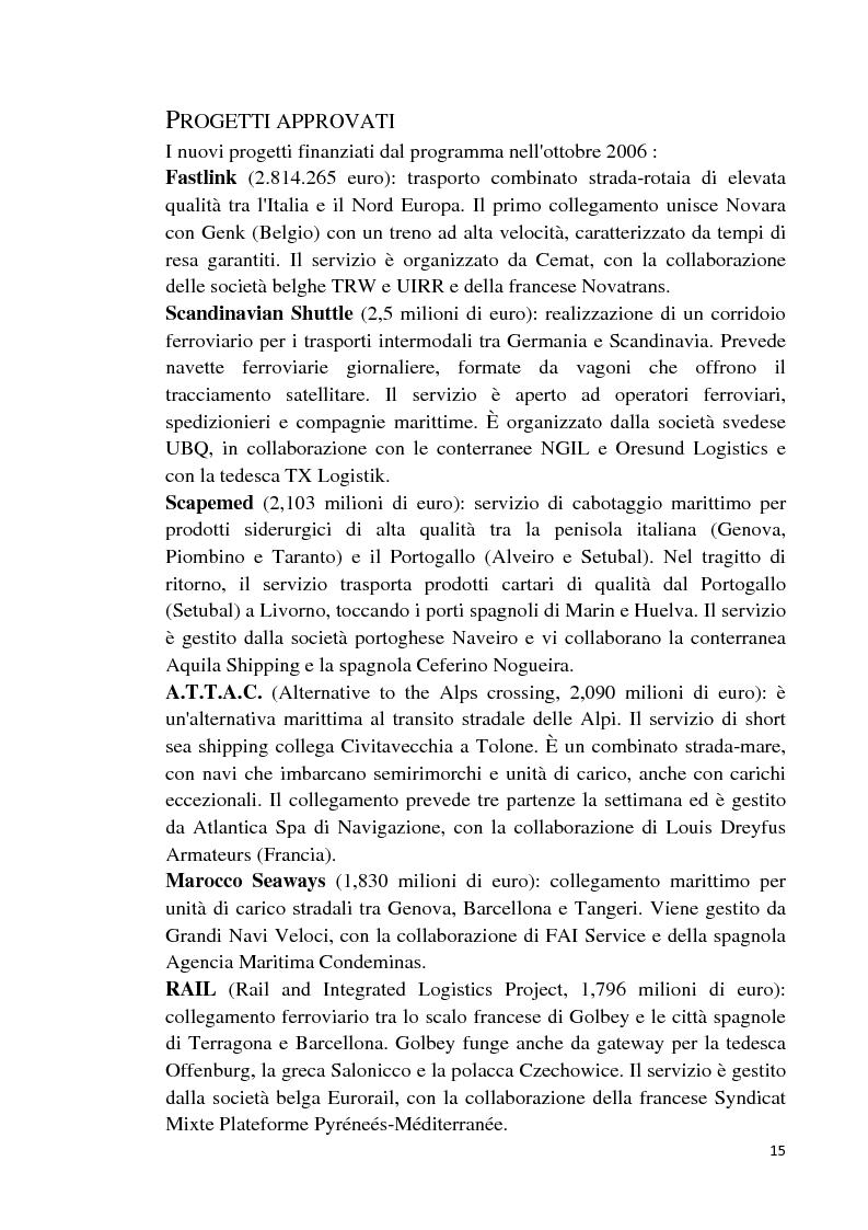 Anteprima della tesi: Studio di fattibilità di un'autostrada del mare in Sardegna, Pagina 12