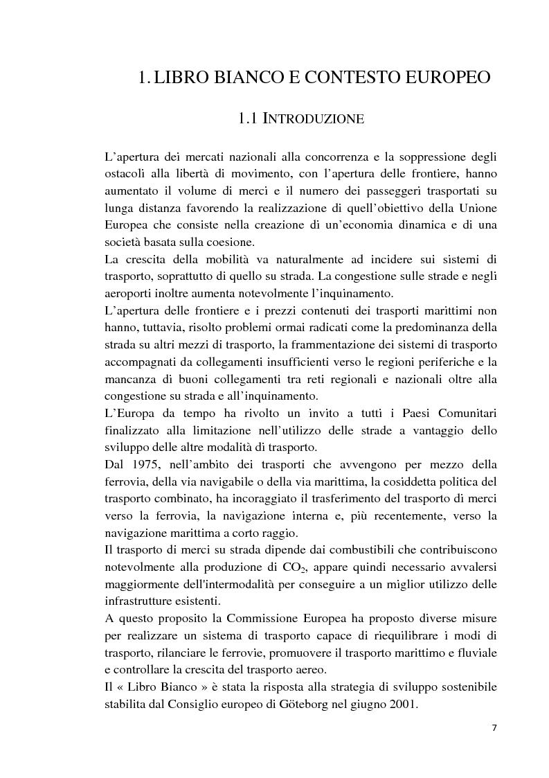 Anteprima della tesi: Studio di fattibilità di un'autostrada del mare in Sardegna, Pagina 4