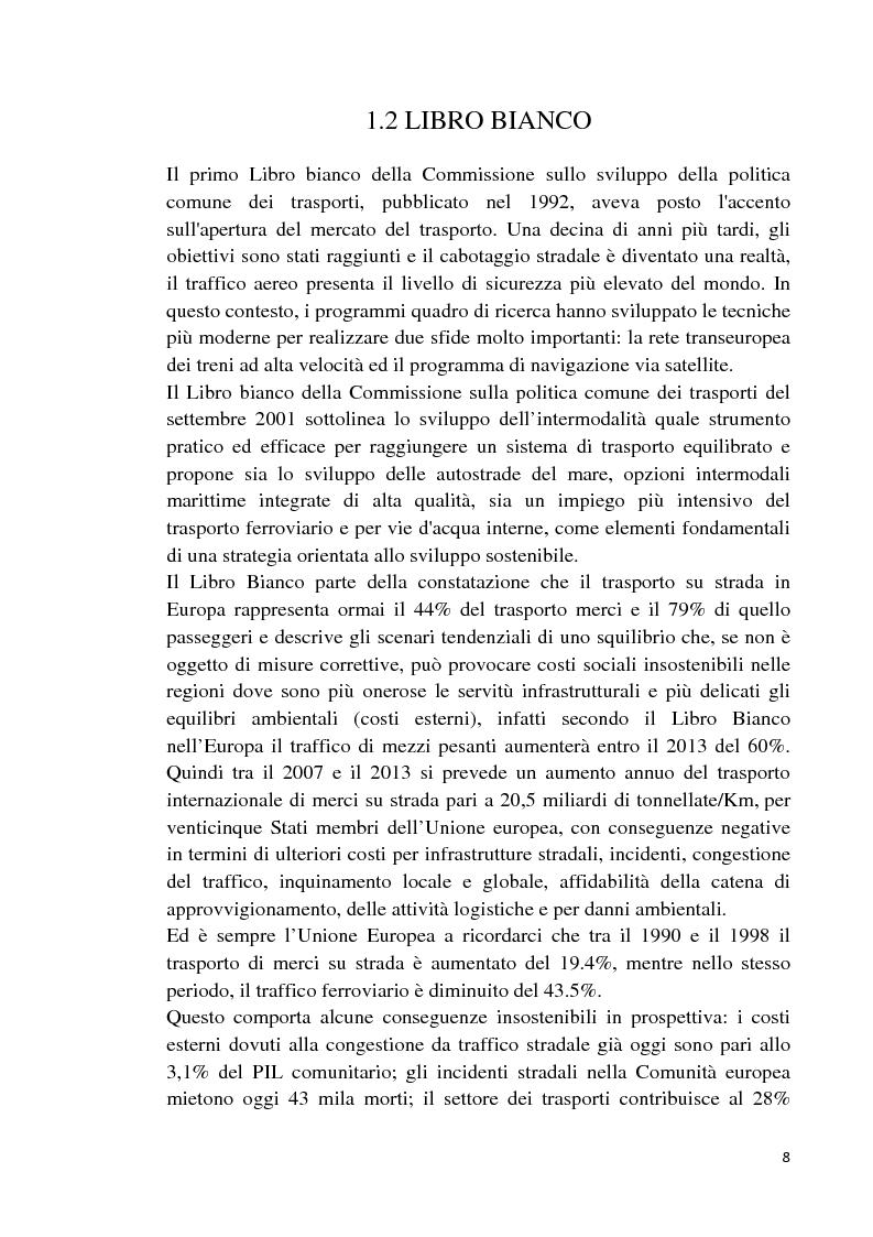 Anteprima della tesi: Studio di fattibilità di un'autostrada del mare in Sardegna, Pagina 5