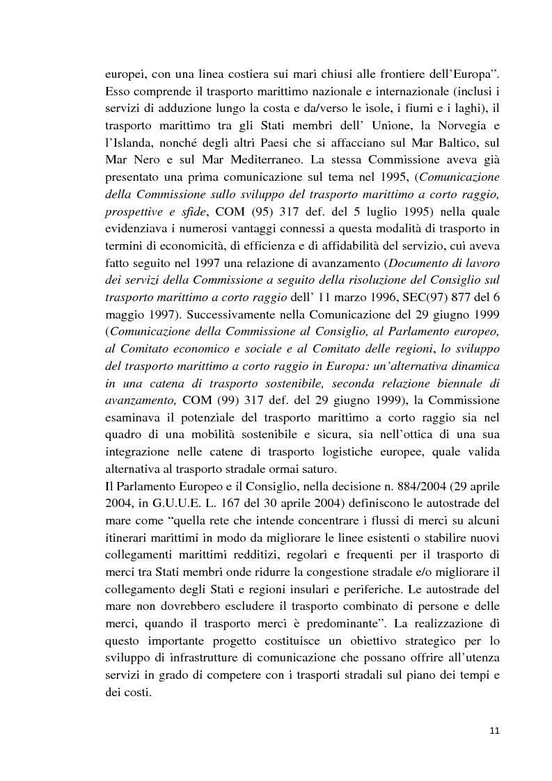 Anteprima della tesi: Studio di fattibilità di un'autostrada del mare in Sardegna, Pagina 8