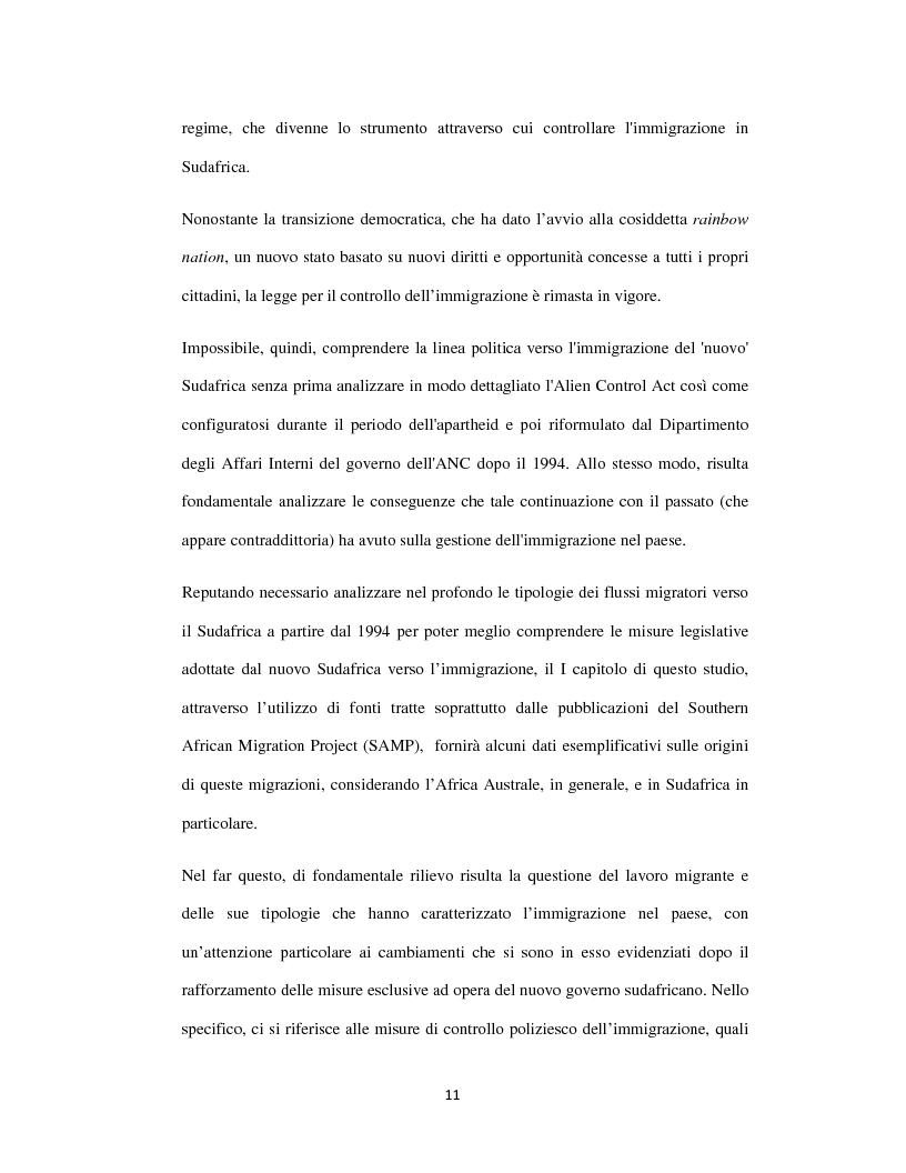 Anteprima della tesi: Sognando la Machamba. L'immigrazione mozambicana nel Sudafrica post-apartheid, Pagina 5