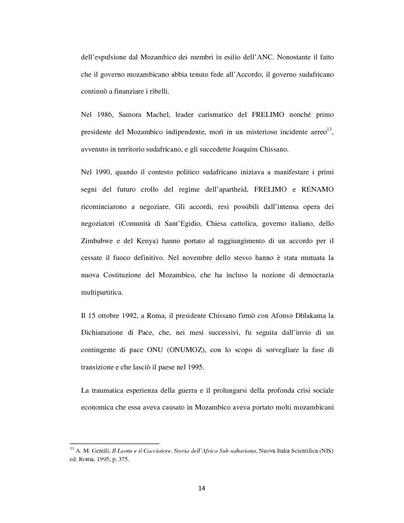 Anteprima della tesi: Sognando la Machamba. L'immigrazione mozambicana nel Sudafrica post-apartheid, Pagina 8