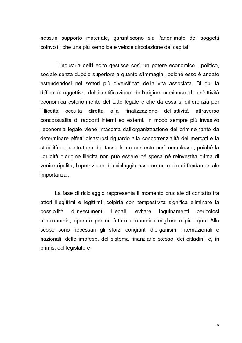 Anteprima della tesi: Italia e Svizzera: parallelo sulle norme antiriciclaggio, Pagina 3