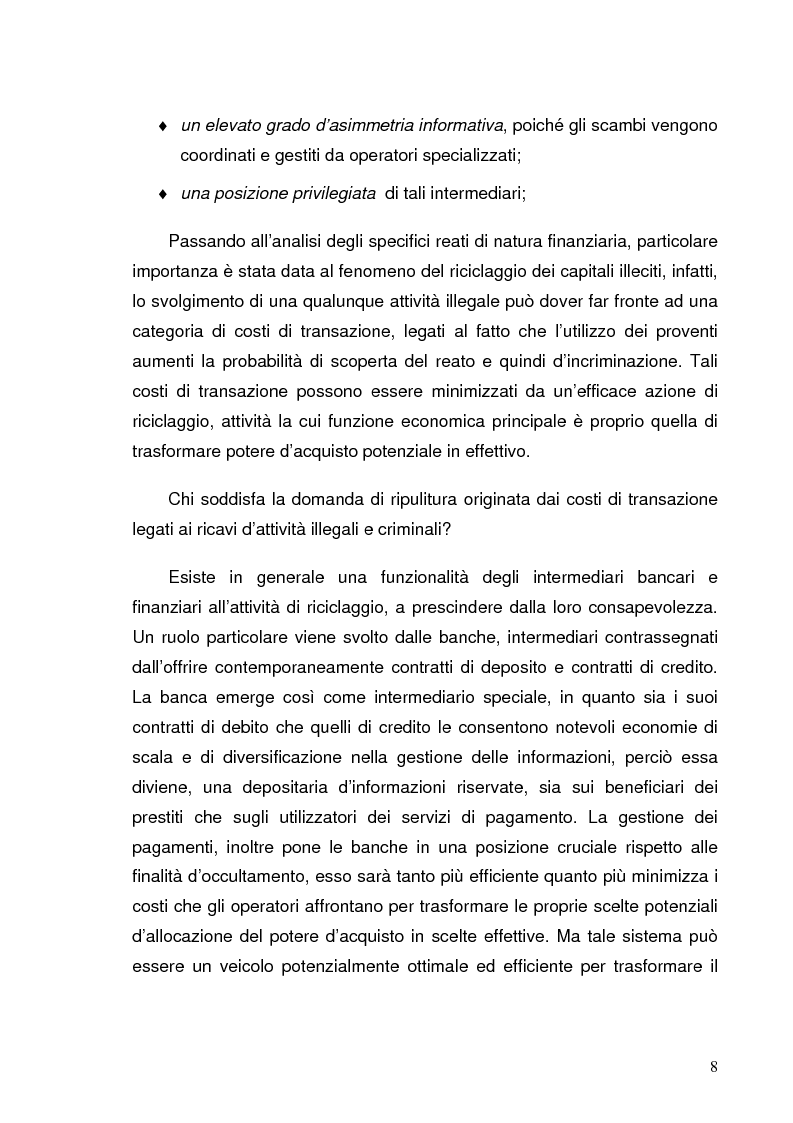 Anteprima della tesi: Italia e Svizzera: parallelo sulle norme antiriciclaggio, Pagina 6