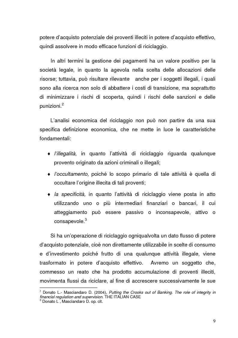 Anteprima della tesi: Italia e Svizzera: parallelo sulle norme antiriciclaggio, Pagina 7