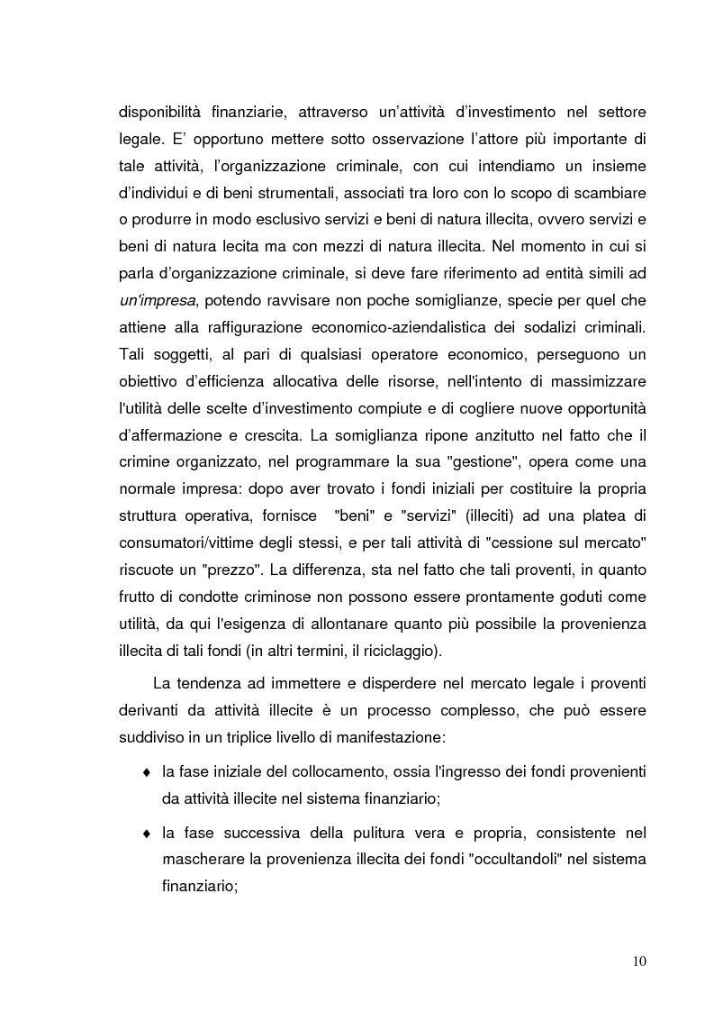 Anteprima della tesi: Italia e Svizzera: parallelo sulle norme antiriciclaggio, Pagina 8