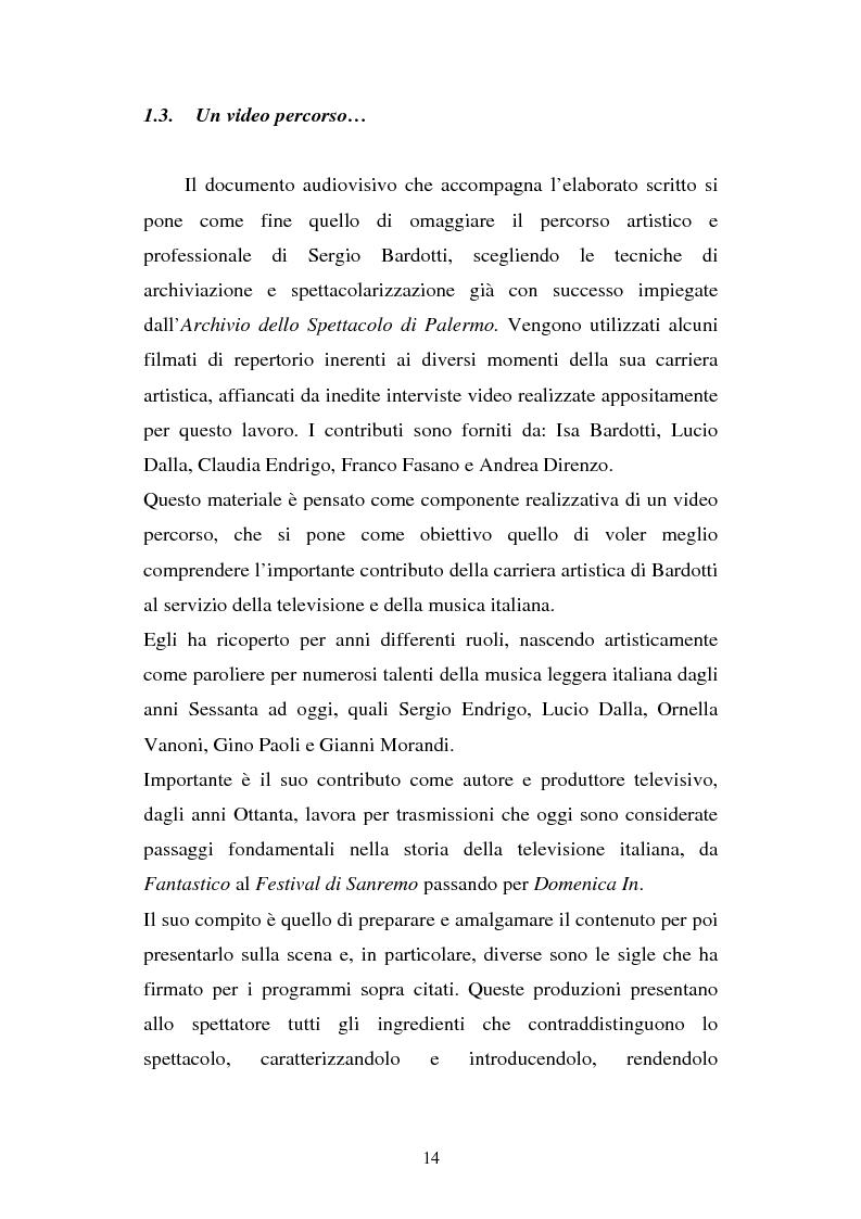 Anteprima della tesi: Sergio Bardotti: una poliedrica esperienza artistica a servizio dello spettacolo, Pagina 10